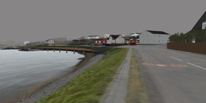 Kynning á tölvusýndarveruleika af miðbæjarsvæði Djúpavogs – 3D